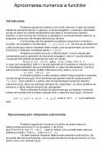 Imagine document Aproximarea numerica a functiilor