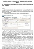 Imagine document Decontarea intra si inter bancara BRD