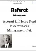 Imagine document Aportul lui Henry Ford la Dezvoltarea Managementului