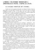 Cadrul istoric al activitatii misionare a Apostolului Pavel