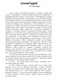 Izvorul Noptii De Lucian Blaga