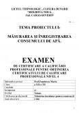 Imagine document Masurarea si inregistrarea consumului de apa