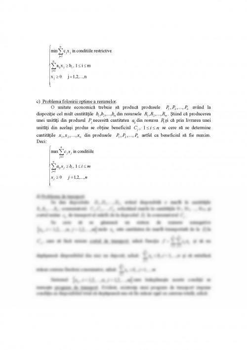 Referat: Exemple De Probleme De Programare Liniara ...