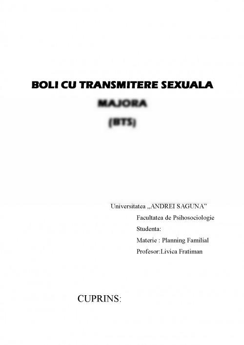 Prevenirea bolilor cu transmitere sexuala referat
