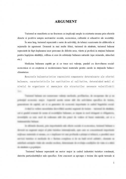 Referat: Turismul Balnear in Romania (#457615) - Graduo