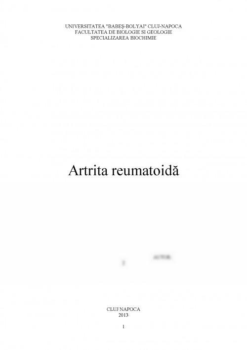 Concluzii artrita reumatoida