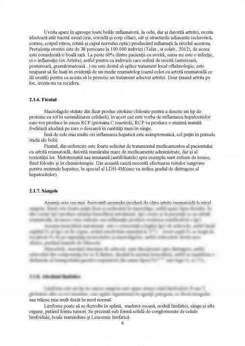 Inflamatia in artrita reumatoida